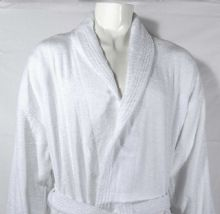 linenHall 400gsm Shalw Collar Bathrobe In White